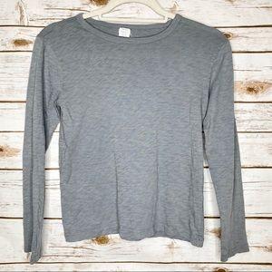 Kids Crewcuts Grey Long Sleeve Shirt Size 10